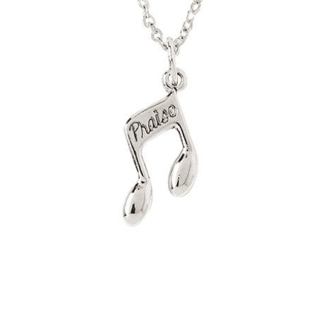 Christian Necklace - Praise Music Note
