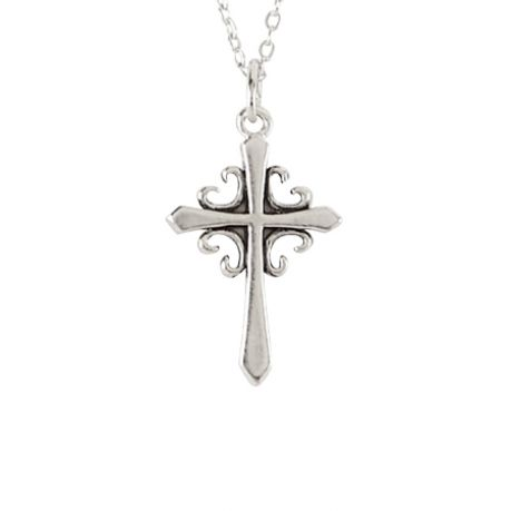 Cross Necklace - French Cross