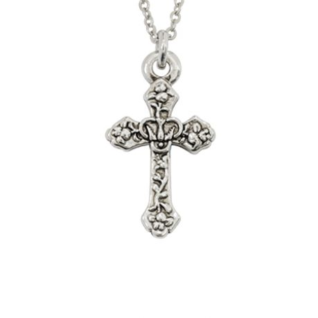 Cross Necklace - Confirmation Dove w/Lilies