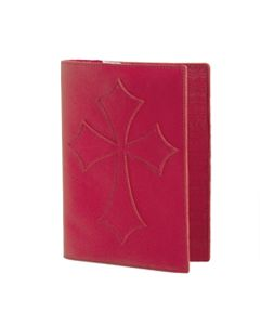 Red Leather Flared Cross Bible Cover