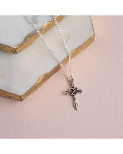 Sterling Silver Purity Necklace - w/ Cross, Heart, and Key