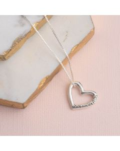 Sterling Silver Heart Necklace - Love Never Fails