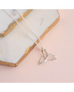 Sterling Silver Triquetra Necklace