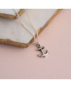 Sterling Silver Cross Necklace - Anchor Cross