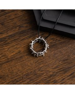 Sterling Silver Crown Necklace - Thorns