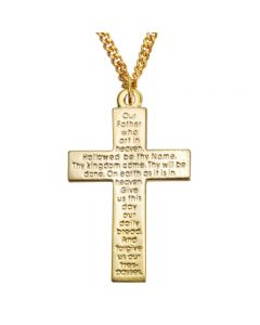 Cross Necklace - Lord's Prayer Cross