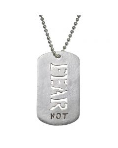 Christian Necklace - J.C.I.D. Fear Not Tag