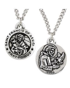 Christian Necklace - Saint Francis of Assisi Medal