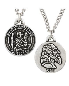 Christian Necklace - Saint Christopher Medal
