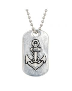 Christian Necklace - J.C.I.D. Anchor / Hope Tag