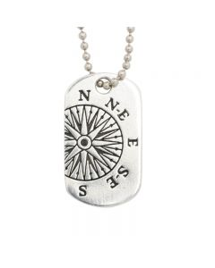 Christian Necklace - J.C.I.D. Compass / Jeremiah 29:11 Tag
