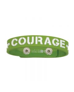 Rubber Cross Christian Bracelet - Courage