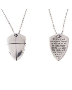 Christian Necklace - Shield of Faith with Cross