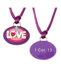 Christian Necklace - Love with Cross/1 Cor. 13