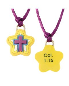 Christian Necklace - Star with Cross/Col 1:16