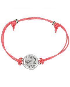 Fashion Christian Bracelet - Faith-Hope-Love