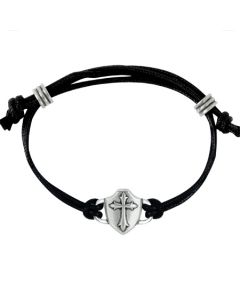 Fashion Christian Bracelet - Cross within Shield