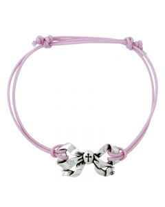 Fashion Christian Bracelet - Bow with Cross