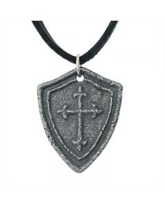 Christian Necklace - Shield with Cross