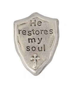 Christian Lapel Pin - He Restores my Soul
