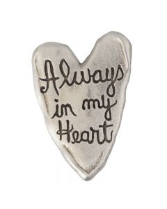 Heart Lapel Pin - Always In My Heart