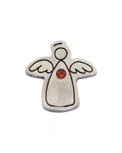 Birthstone Colored Lapel Pin - Angel-January