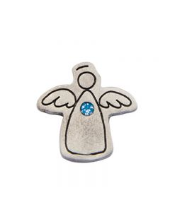 Birthstone Colored Lapel Pin - Angel-March