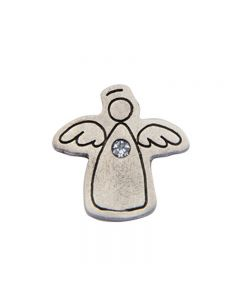 Birthstone Colored Lapel Pin - Angel-April