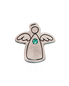 Birthstone Colored Lapel Pin - Angel-May