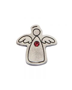 Birthstone Colored Lapel Pin - Angel-June