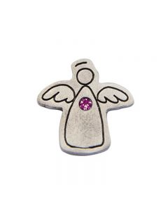 Birthstone Colored Lapel Pin - Angel-July
