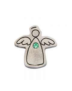 Birthstone Colored Lapel Pin - Angel-August