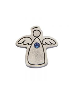 Birthstone Colored Lapel Pin - Angel-December