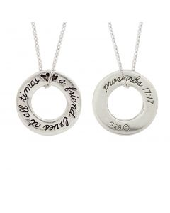Christian Necklace - Friend/Proverbs 17:17