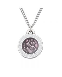 Christian Necklace - Saint Christopher w/Pink