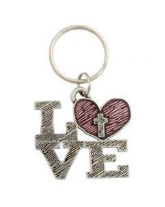 Pewter Keychain - Love