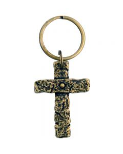 Cross Keychain - God Bless the Broken Road