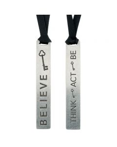Pewter Christian Bookmark - Believe