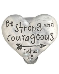 Heart Visor Clip - Be Strong and Courageous