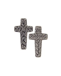 Pewter Cross Pocket Token - The Lord is My Shepherd