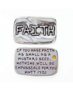 Pewter Pocket Token - Faith