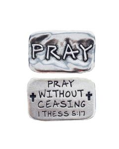 Pewter Pocket Token - Pray