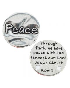 Pewter Pocket Token - Peace