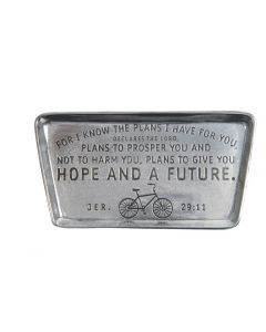 Pewter Trinket Dish - Bike/Jeremiah 29:11