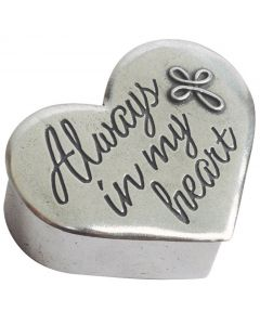 Pewter Cross Trinket Box - Always in My Heart