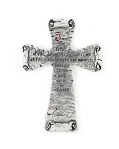 Pewter Wall Cross - Bread of Life