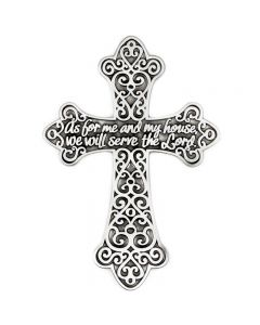 Pewter Wall Cross - As For Me and My House