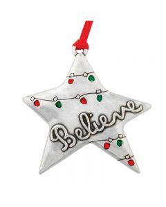 Christmas Ornament - Believe Star/Luke 2:10-14