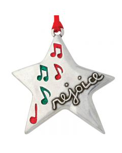 Christmas Ornament - Rejoice Star/Matt. 2:10-11
