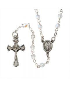 Aurora Crystal Rosary with The Miraculous Medal